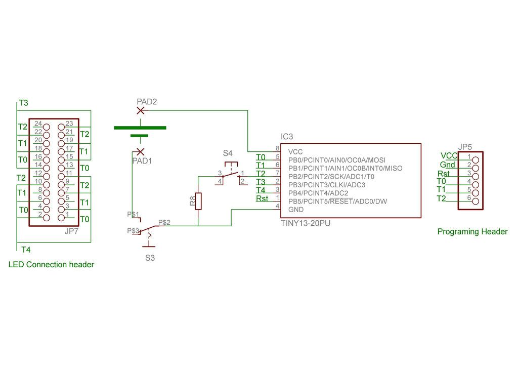 arduino LEDs from a reprogramable schematic