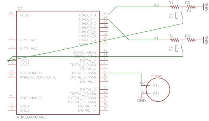 arduino RFID pet feeder schematic