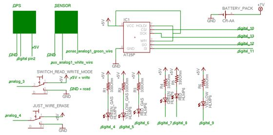 AIR Project using an Arduino Schematic