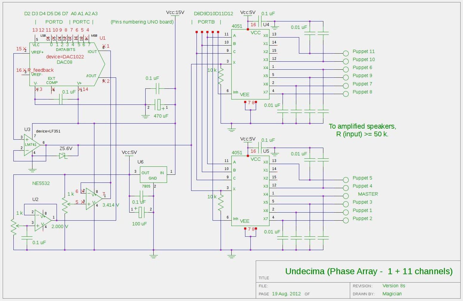 Arduino Audio Output Schematic