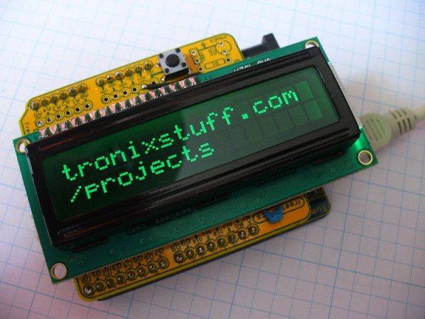 Arduino Backlit LCD shield