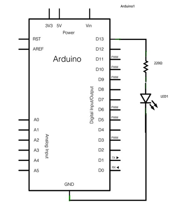 Arduino Blink LED Schematic