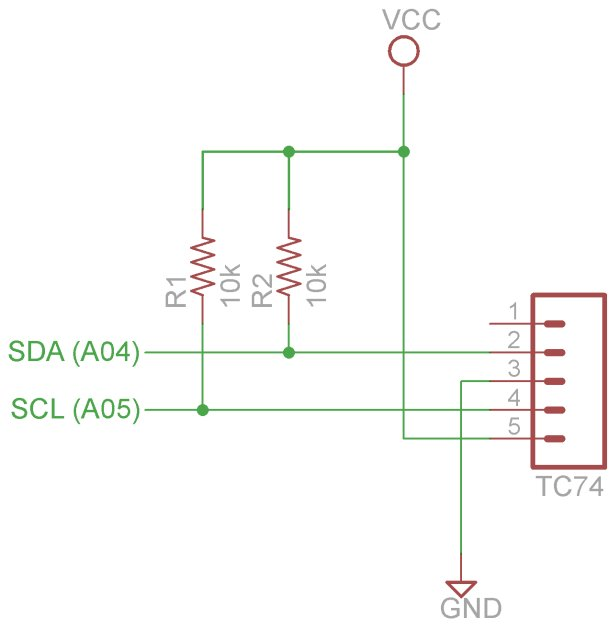 Arduino I2C and Processing Schematic