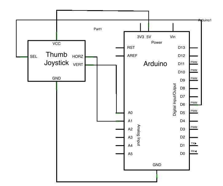 Arduino Joystick Mouse Control Schematic