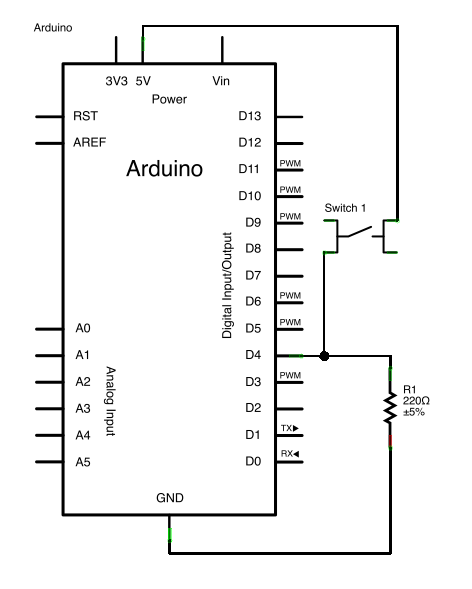 Arduino Keyboard Message schematic