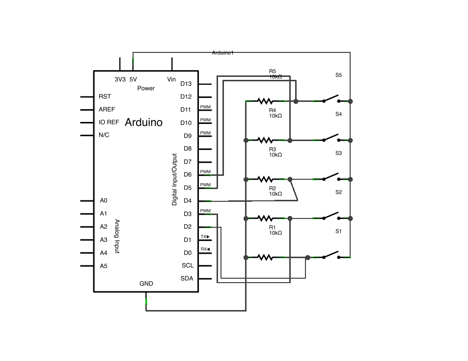 Arduino Keyboard and Mouse Control schematic