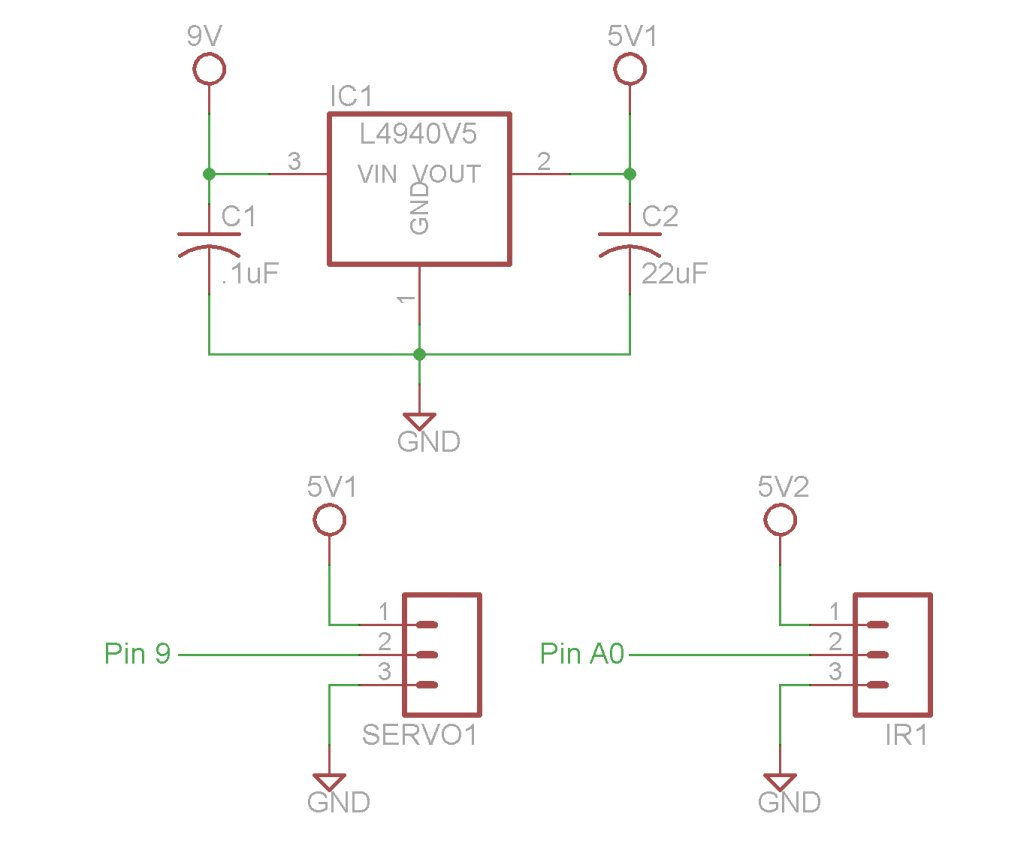 Arduino Motors and Transistors Schematic