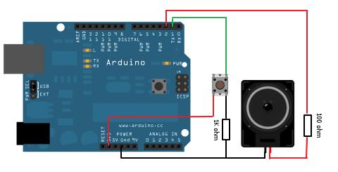 Arduino Piezo speaker Schematic