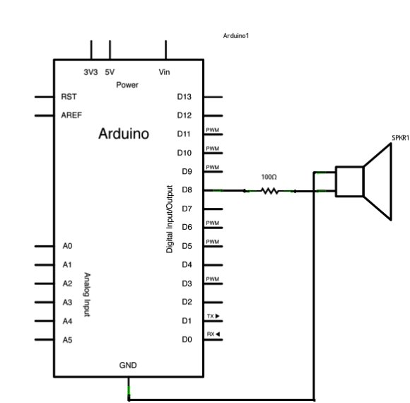 Arduino Play a Melody Schematic