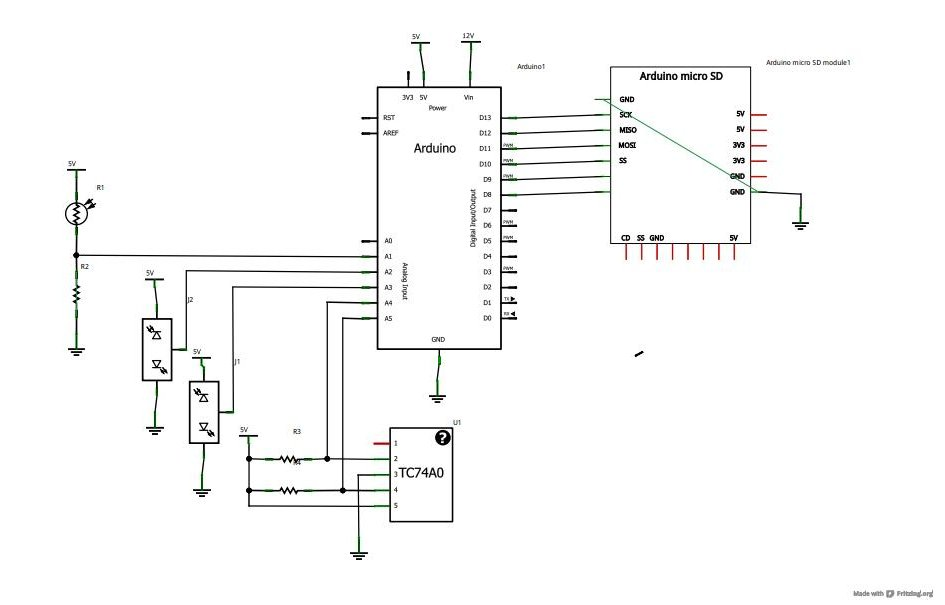 Arduino SD Cards and Datalogging Schematic