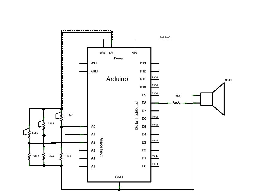 Arduino Simple keyboard Schematic