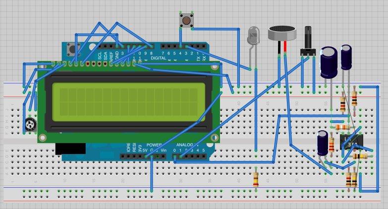 Arduino Sound Alarm breadboard