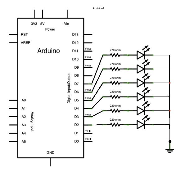 Arduino Switch (case2) Statement schematic
