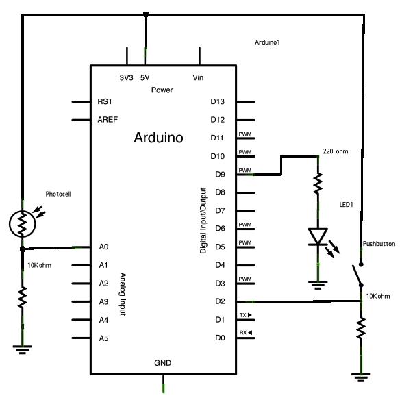 Arduino while loop schematic