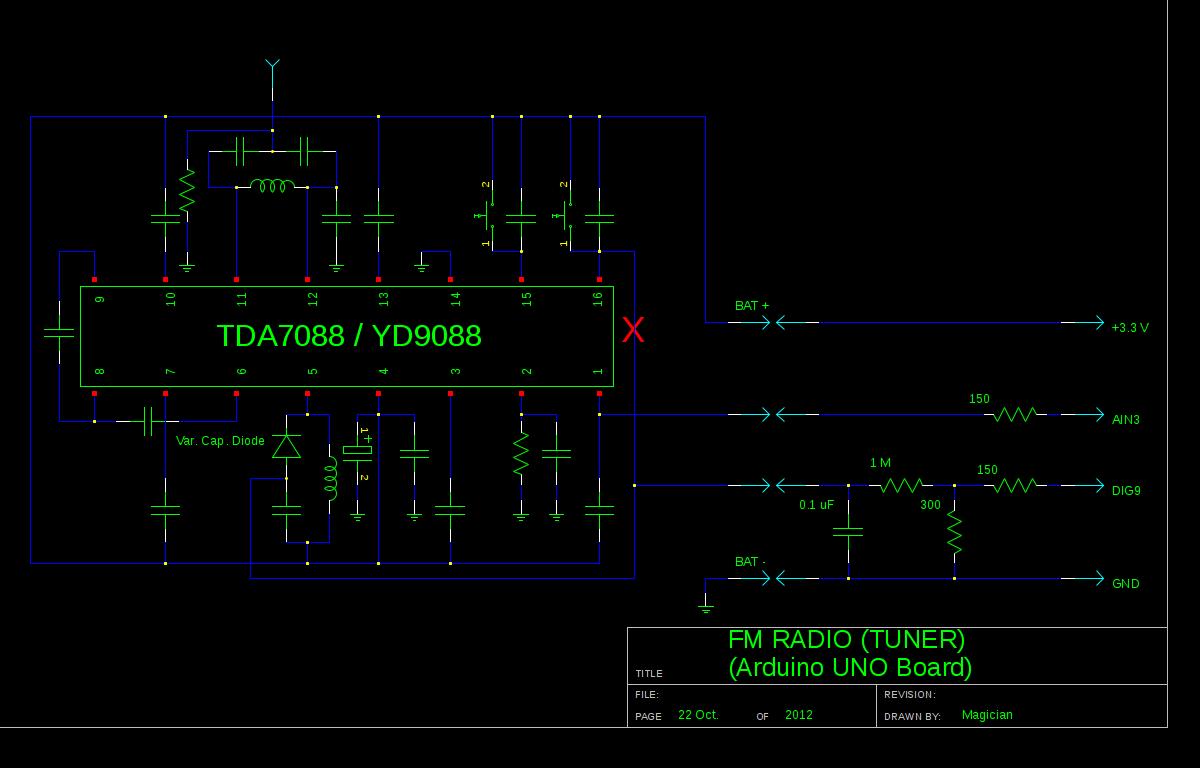 DIY Arduino FM Radio Shematic