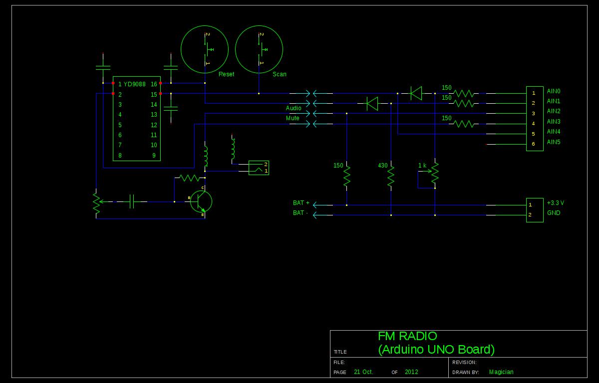 DIY Arduino FM Radio Shield Schematic