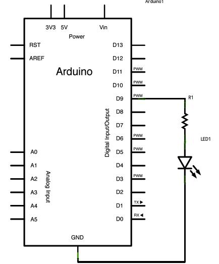 Dimmer using an Arduino schematic