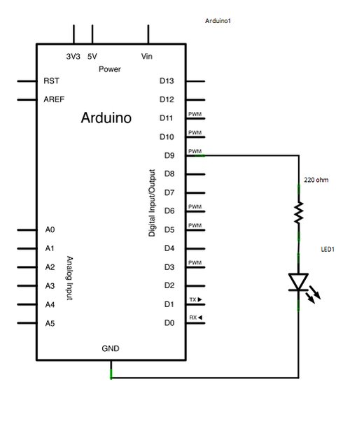 Fading using an Arduino schematic