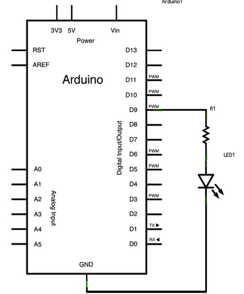 Fading with Arduino Schematic