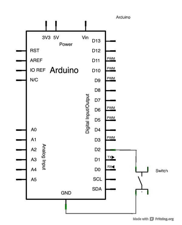 Input Pullup Serial using Arduino Schematic