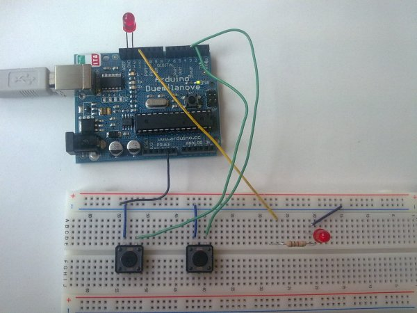 Input Pullup Serial using Arduino