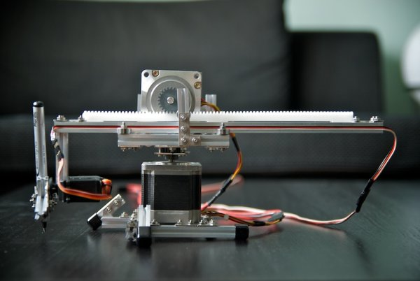 Polar Plotter on Arduino and MakerBeams
