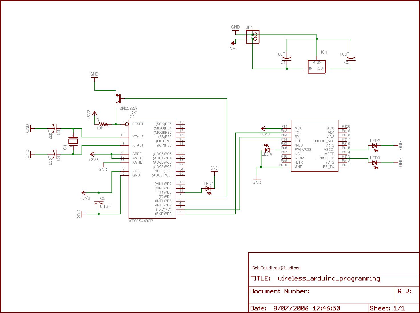 Programming Arduino Wirelessly Schematic