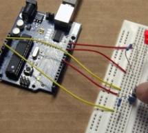 Push-button using an Arduino