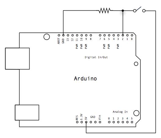 Push-button using an Arduino Schematic