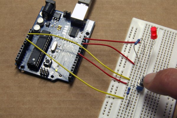 Push-on using an Arduino -Use Arduino for Projects on