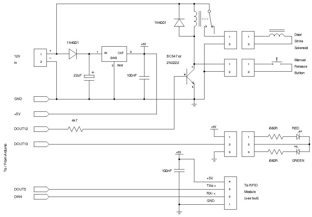 RFID Access Control Schematic