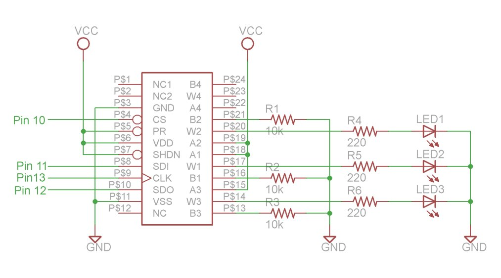 SPI Interfaces using Arduino Schematic