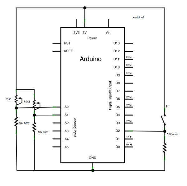 Serial Call and Response using Arduino schematic