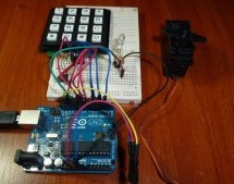 Access control with Arduino plus Keypad 4×4 plus Servo