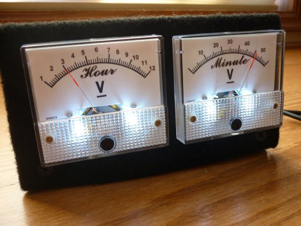 Arduino Analog VU meter and Clock
