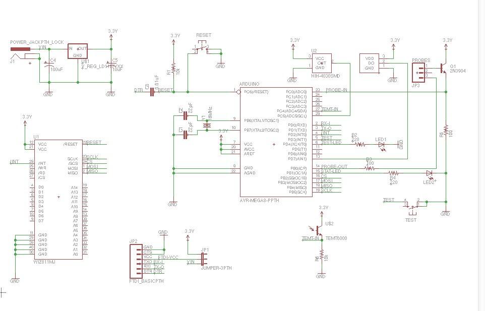 Arduino Botanicalls Clone schematic