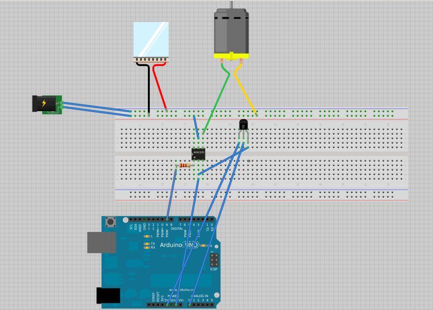 Arduino Cup Cooler circuit