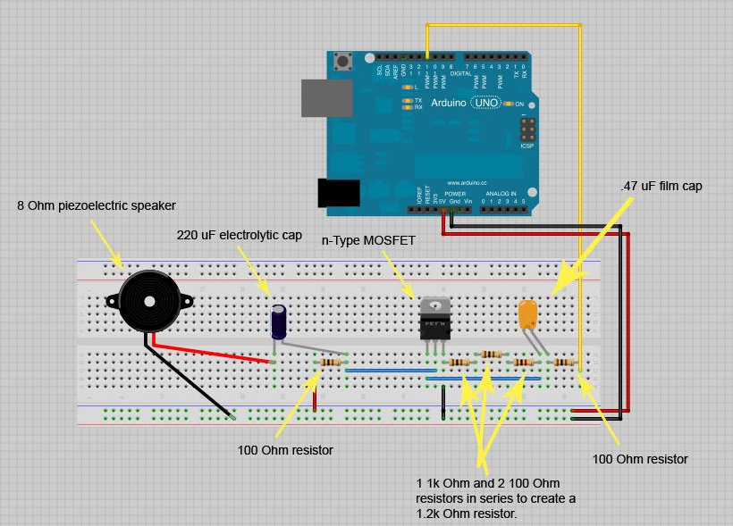 Arduino CustomKeys Circuit