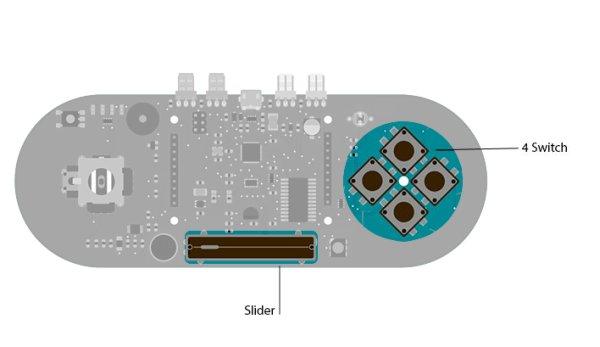 Arduino Esplora Pong circuit