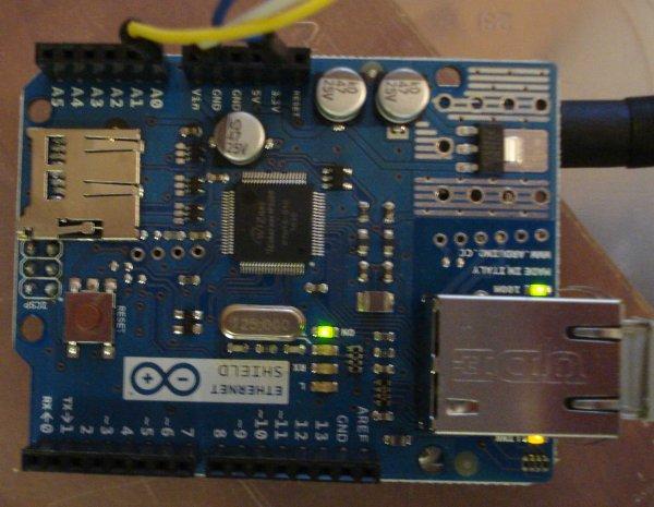 Arduino House Temperature Monitor circuit