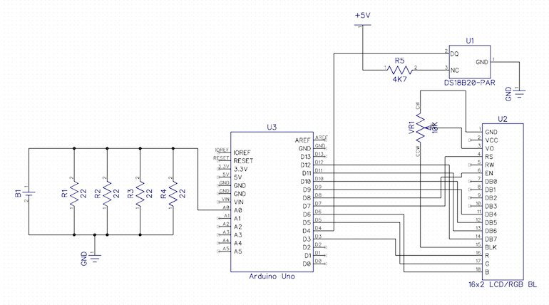 Arduino Measuring Battery Capacity schematic
