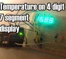 Temperature Displayed on 4 Digit 7 segment using Arduino