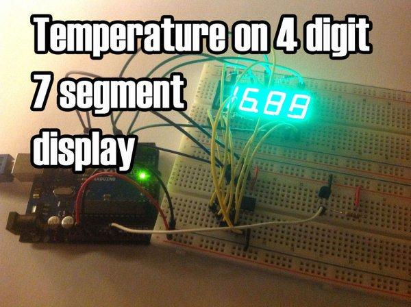 Arduino Temperature Displayed