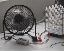 Temperature-controlled USB fan using Arduino