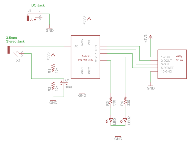 Arduino The Dryer Messenger Schematic