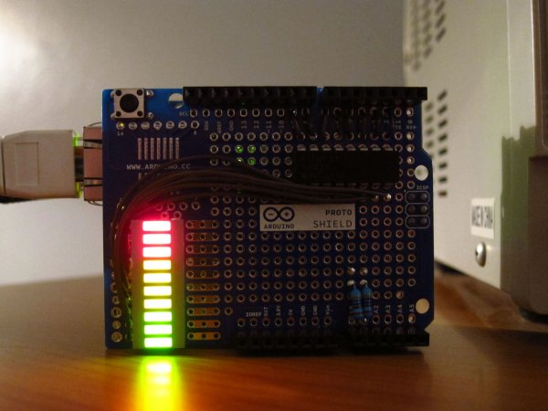 Arduino Visual Network Threat Level Indicator