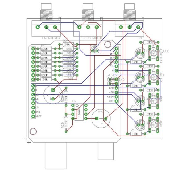Arduino Waveform Generator Shield circuit