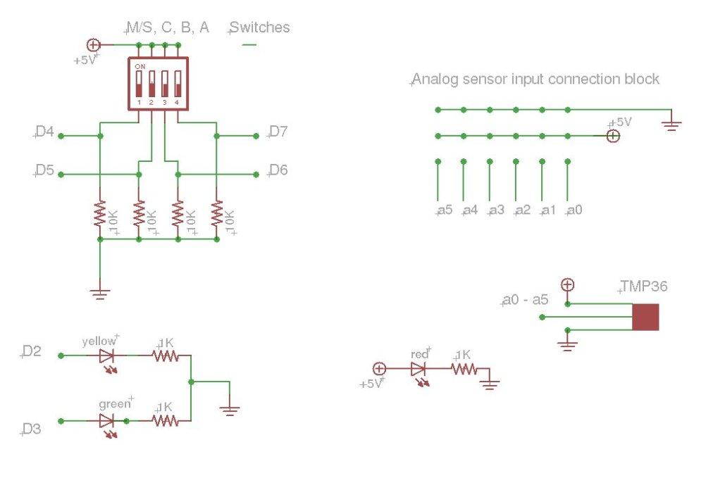 Arduino based data logger schematic