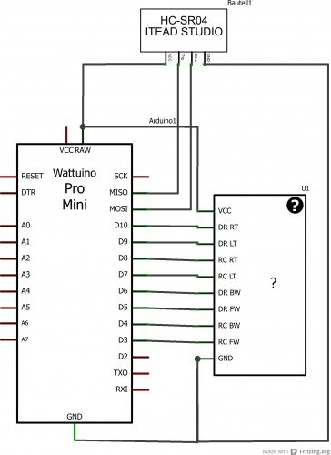 Arduino controlled RC car schematic