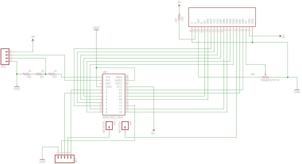 Arduino iPod Information Screen Schematic